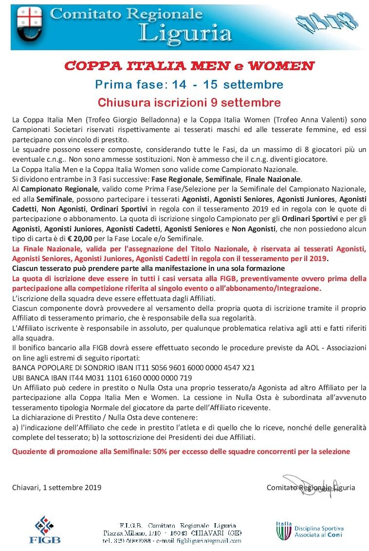 Calendario Regionale Liguria.Comitato Bridge Regione Liguria